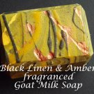 Goat Milk Soap - Black Linen & Amber