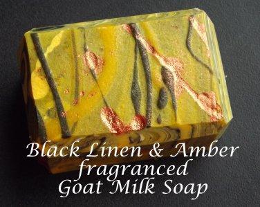 Goat Milk Soap - Black Linen & Amber