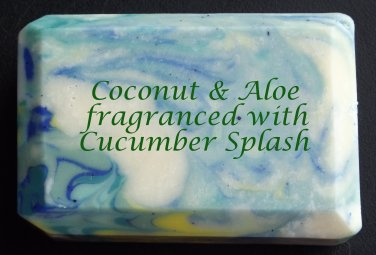 Coconut & Aloe Soap - Cucumber Splash