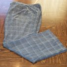 Worthington Stretch Size 16T 16 Tall Black Plaid Pattern Knit Women's Pants Slacks 001p-6 location92