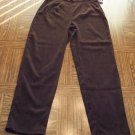 Vintage Women's Brown MicroSuede Legging Pants Size 8 001p-38 locw14