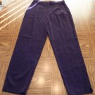 Fashion Bug Women's Vintage Plum MicroSuede Pants Size 8 001p-39 Womens Slacks locw14
