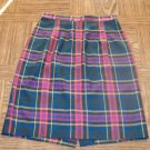 Vintage BLASSPORT by BILL BLASS Women's Plaid Pencil SKIRT Size 8  001s-03 Womens Skirts locw21
