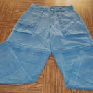 REI Women's Outdoor Hiking Green Cargo Pants Convertible Shorts Size 8 001p-46 Locw14