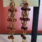 SONOMA Goldtone PIERCED Drop EARRINGS Costume Jewelry 05ear