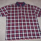 TOMMY HILFIGER MEN'S SHORT SLEEVE Plaid POLO Shirt  Size L Large 001SHIRT-4