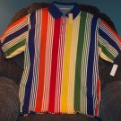 NWT EDDIE BAUER MEN'S SHORT SLEEVE Striped POLO Shirt  Size L Large 001SHIRT-6