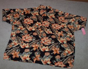 JOHN HENRY MEN'S Tropical Short Sleeve Button Front SHIRT  Size XXL 001SHIRT-13 location90