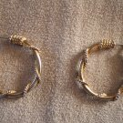 Vintage Goldtone Pierced Embellished Wire Hoop EARRINGS Costume Jewelry 15ear