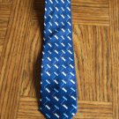 PURITAN Men's TIE NECKTIE Blue Black Gray White Geometric  Pattern location100