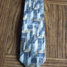 PURITAN Men's TIE NECKTIE Gold Beige Charcoal Gray Abstract Geometric  Pattern location100