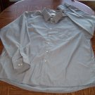 VAN HEUSEN MEN'S Poplin Long Sleeve Gray SHIRT Size 18 1/2 Neck 34/35  001SHIRT-22 location100