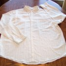 MERONA MEN'S Long Sleeve White Check Print SHIRT Size XXL 001SHIRT-24 location100