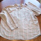 CHEROKEE MEN'S Long Sleeve Beige Plaid SHIRT Size XXL 001SHIRT-27 location100