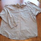 NORTHCREST MEN'S Long Sleeve Olive Plaid SHIRT Size XXL 001SHIRT-28 location100