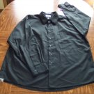 VAN HEUSEN MEN'S Long Sleeve Black Sateen SHIRT Size Neck 18 1/2 Sleeve 34/35 001SHIRT-37 location99