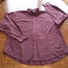 ARROW MEN'S Red Plaid Long Sleeve SHIRT Size XL Wrinklefree 001SHIRT-39 location99