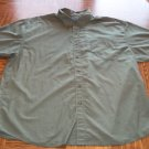 BASIC EDITION Big Man MEN'S Olive Short Sleeve Button Front SHIRT Size 2X  001SHIRT-47 location99