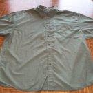 BASIC EDITION Big Man MEN'S Olive Short Sleeve Button Front SHIRT Size 2X  001SHIRT-47 location99