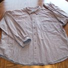 SONOMA MEN'S Long Sleeve Plum Beige Plaid Button Front SHIRT Size 2X  001SHIRT-50 location99