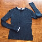 AEROPOSTALE Navy Cable Knit SWEATER Top Size S Small locationw5