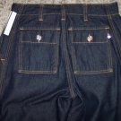 "BUFFALO DAVID BITTON Life Dark Wash Button Fly JEANS Size Small 26"" Waist 001p-73 Pants loc12"