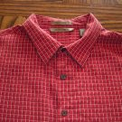 A[X]IST AXIST MEN'S SS Orange Box Check SHIRT Sz XL 001SHIRT-56 location98