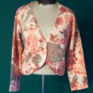 Knit Sweater Shrug APT 9 Pink Gray  Floral Shirt Top Size S Small