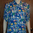 Tropical Boating KORET FRANCISCA BLOUSE Shirt Top Size M Medium wt-35 location97
