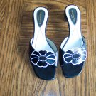 Sweet Floral LIZ CLAIBORNE CALLISTA Leather SANDALS Slides Shoes Size 7 1/2 M locationw13
