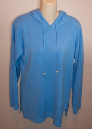 Sweet SUSAN GRAVER Hooded Knit SWEATER Shirt Top Size M Medium locationw12
