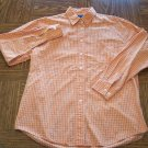 BKLE Orange Check BLOUSE Shirt Top Size M Medium locationw12
