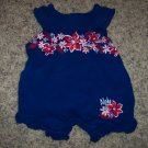 Baby Connection INFANT Girl's Hawiian Theme Blue Romper 0-3 Months locationw9