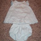 2 PC Dress Set Carter's INFANT Girl's Striped Outfit 3 Months locationw9