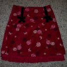 THE CHILDREN'S PLACE Red Velvet Girl's SKIRT Size 6X 7 locationw9