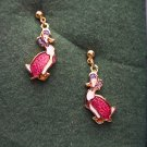 The World of Beatrix Potter Jemima Puddle Duck 22ct Gold Plated Pierced EARRINGS 30ear