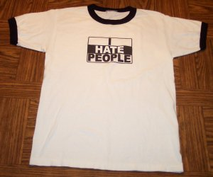 Unknown MEN'S SS I HATE PEOPLE T Shirt Size S Small 001SHIRT-59 location97