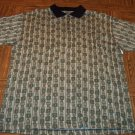 Knightsbridge Golf MEN'S SS Polo Shirt Olive Golf Print Size XL Extra Large 001SHIRT-61 location97