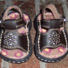 Adorable Infant Girl's SANDALS Brown Shoes Size 1 locationw13