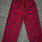 Pine Sports Boy's Sleep Pants Pajama Pant Child 4-5 Red Football Print Fleece locationw8