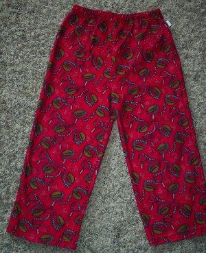Pine Sports Boy's Sleep Pants Pajama Pant Child 4-5 Red Football Print Fleece locationw8