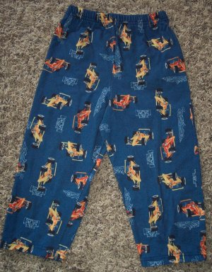 Carter's Boy's Sleep Pants Pajama Pant Child 4T Blue Race Cars Racing locationw8