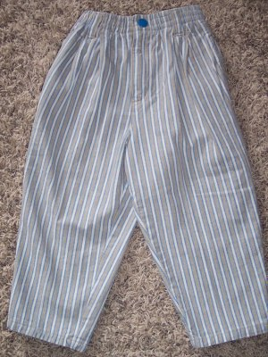 Gymboree Boy's Denim Pants Striped Blue Gray Space Small S locationw8