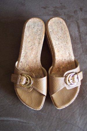 Stuart Weitzman Leather SANDALS Wedges Shoes Size 6 1/2 B locationw13