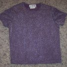 A BYER CALIFORNIA SS Sparkly Lavender TOP Size M Medium locationw11
