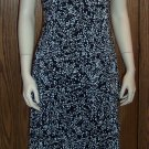 Dressbarn Layered Black White Fern Print DRESS Size 10 dress-26 locationw13