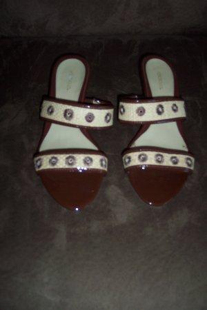 Classic Aerosoles Straw Strap Kitten Heel SANDALS Shoes Size 8 B loc18W