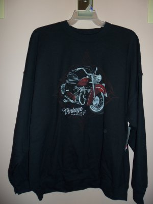 NWT George MEN'S LONG SLEEVE Graphic Fleece SweatShirt Size XL Extra Large 001SHIRT-64 location7