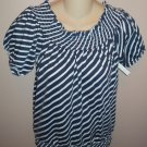 Energie Boatneck Nautical Striped TOP Size M Medium Shirt wt-15 location4
