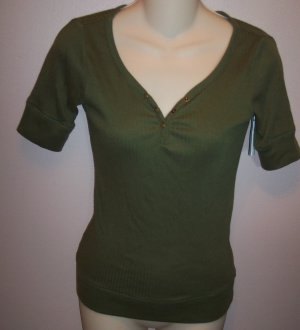 Energie Short Sleeve Dark Green Knit Top Sz Large wt-31 location5